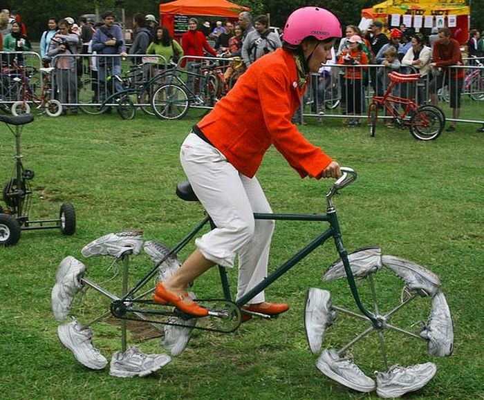 Самые смешные и необычные велосипеды мира