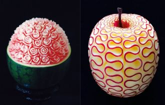 карвинг по овощам и фруктам